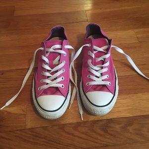 496a24d63a01 Converse Shoes - Converse Hyper Magenta Double Tongue Low Tops